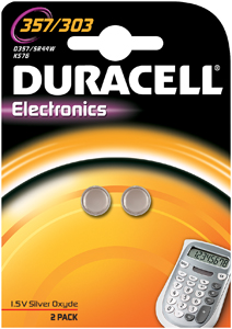 DURACELL Knoopcell Batterij 357-303