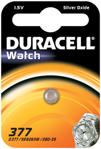 DURACELL Knoopcell Batterij 377