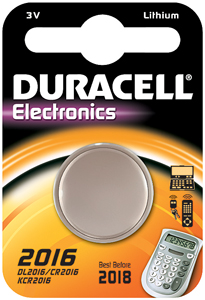 DURACELL Knoopcell Batterij CR2016