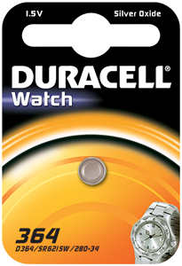DURACELL Knoopcell Batterij 364