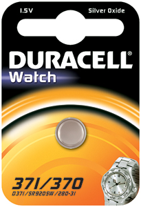 DURACELL Knoopcell Batterij 371-370