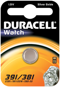 DURACELL Knoopcell Batterij 391-381