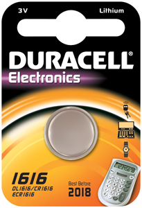 DURACELL Knoopcell Batterij CR1616