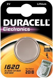 DURACELL Knoopcell Batterij CR1620