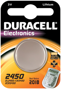 DURACELL Knoopcell Batterij CR2450